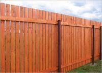 Деревянный забор для ограждения дачного участка с домиком можно сделать и в виде частокола, т.е. выполненный в...
