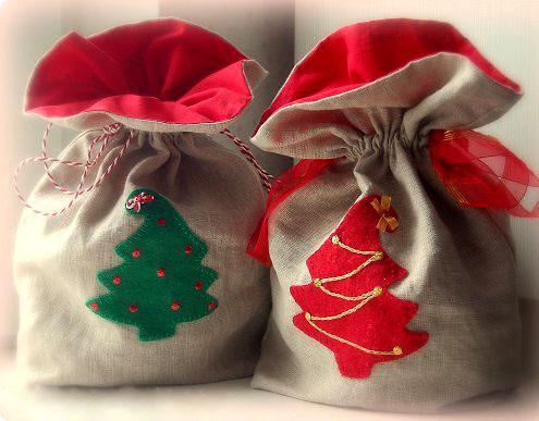 Как сделать мешочки для подарков из ткани