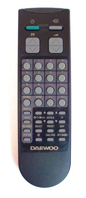 Этот пульт подходит к следующей аппаратуре:DAEWOO телевизор DMQ-1427 DAEWOO телевизор.